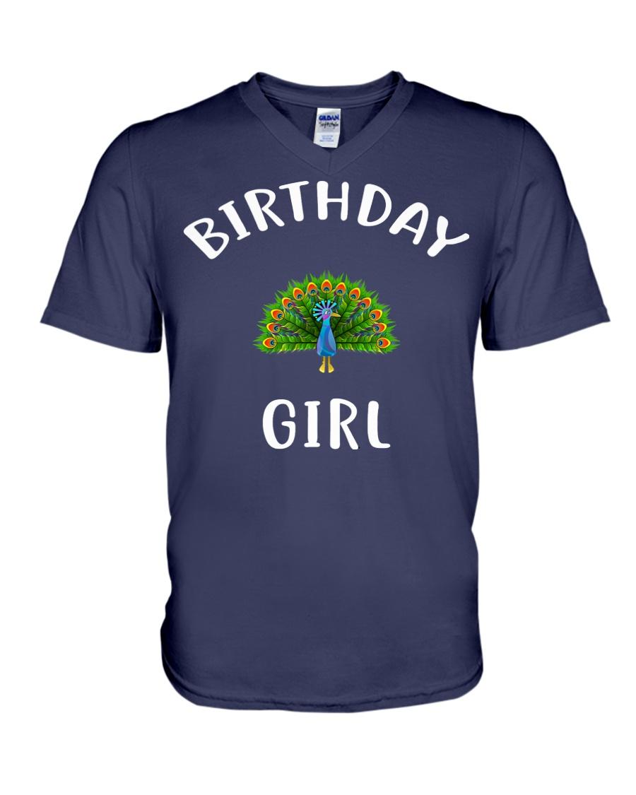 Birthday Girl PEACOCK T-Shirt PEACOCK Shir V-Neck T-Shirt
