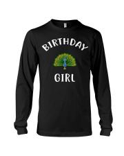 Birthday Girl PEACOCK T-Shirt PEACOCK Shir Long Sleeve Tee thumbnail