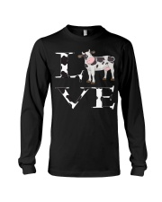 Cute Cow Print I Love Cows Women Kids P Long Sleeve Tee thumbnail