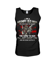Grumpy Old Man - Too Old To Fight - Funny Ve Unisex Tank thumbnail