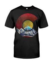 Colorado Shirt with Flag Themed Mountain Premium Fit Mens Tee thumbnail