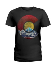 Colorado Shirt with Flag Themed Mountain Ladies T-Shirt thumbnail