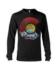 Colorado Shirt with Flag Themed Mountain Long Sleeve Tee thumbnail