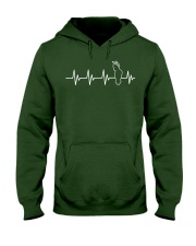 Bird Shirt - Heartbeat Bird Shirt Cockato Hooded Sweatshirt front