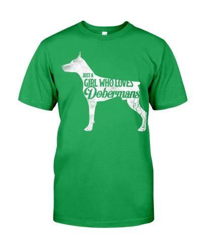 Just A Girl Who Loves Dobermans Tee Shirt