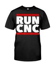 RUN CNC shirt Funny machinist engineer G-c Classic T-Shirt front