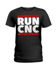 RUN CNC shirt Funny machinist engineer G-c Ladies T-Shirt thumbnail
