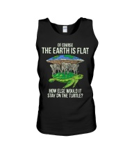 Flat Earth Society T Shirt Turtle Elephants  Unisex Tank thumbnail