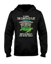 Flat Earth Society T Shirt Turtle Elephants  Hooded Sweatshirt thumbnail