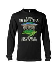 Flat Earth Society T Shirt Turtle Elephants  Long Sleeve Tee thumbnail