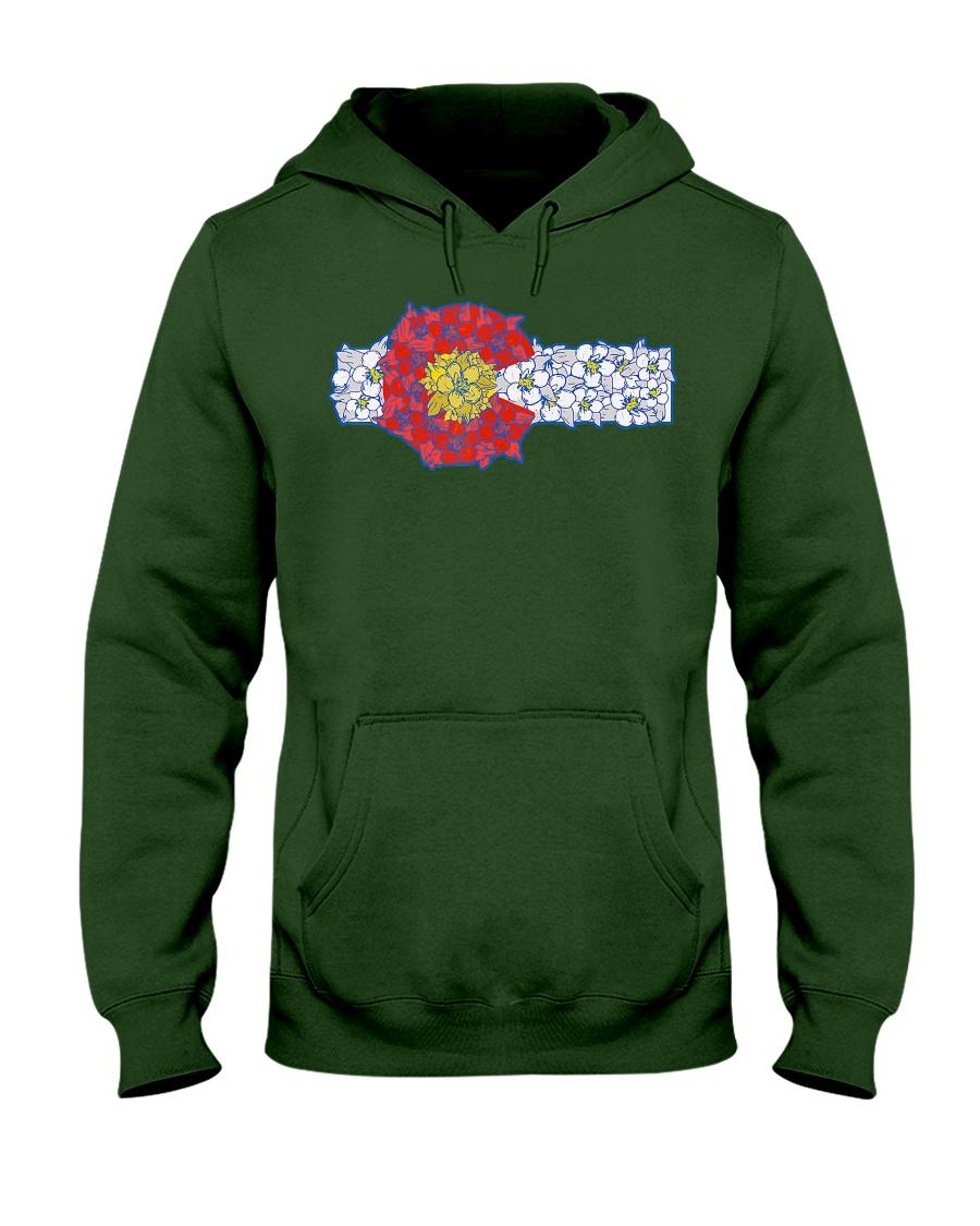 Colorado Columbine Flowers  State Fl Hooded Sweatshirt