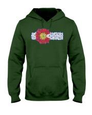 Colorado Columbine Flowers  State Fl Hooded Sweatshirt front