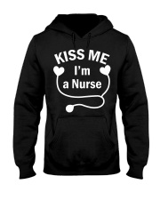 Kiss me I'm a Nurse Hooded Sweatshirt thumbnail