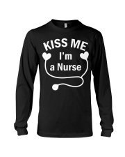 Kiss me I'm a Nurse Long Sleeve Tee thumbnail