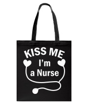 Kiss me I'm a Nurse Tote Bag thumbnail