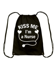 Kiss me I'm a Nurse Drawstring Bag thumbnail