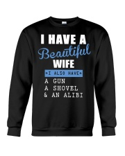 I have a beautiful wife Crewneck Sweatshirt thumbnail