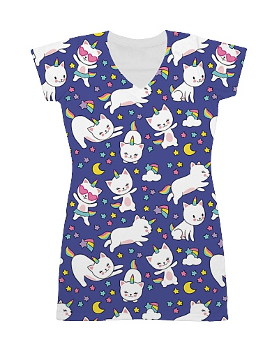 Cat  all over print T-shirt