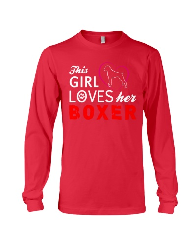 This girl loves her boxer