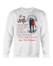 TO MY WIFE LOVE YOUR HUSBAND Crewneck Sweatshirt thumbnail