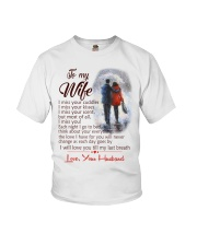 TO MY WIFE LOVE YOUR HUSBAND Youth T-Shirt thumbnail