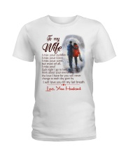 TO MY WIFE LOVE YOUR HUSBAND Ladies T-Shirt thumbnail