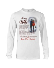 TO MY WIFE LOVE YOUR HUSBAND Long Sleeve Tee thumbnail