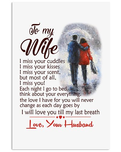 TO MY WIFE LOVE YOUR HUSBAND