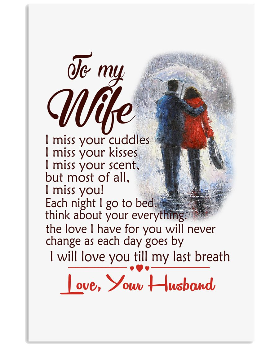 TO MY WIFE LOVE YOUR HUSBAND 11x17 Poster