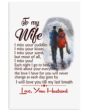 TO MY WIFE LOVE YOUR HUSBAND 11x17 Poster front