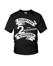 STOLZE PAPA 2 VON EINER GROSSARTIGEN KINDERN Youth T-Shirt thumbnail