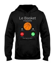 LA BASKET M'APPELE Hooded Sweatshirt front