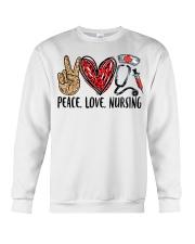 peace Love nursing Crewneck Sweatshirt thumbnail