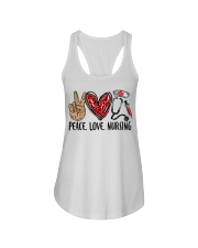 peace Love nursing Ladies Flowy Tank thumbnail