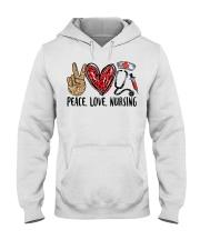 peace Love nursing Hooded Sweatshirt thumbnail