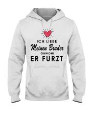 Ich liebe meinen Bruder Hooded Sweatshirt thumbnail