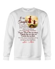 TO MY DAUGHTER LOVE MOM Crewneck Sweatshirt thumbnail
