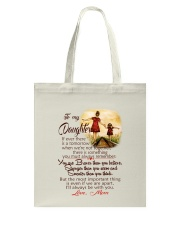 TO MY DAUGHTER LOVE MOM Tote Bag thumbnail