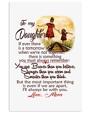 TO MY DAUGHTER LOVE MOM 11x17 Poster front