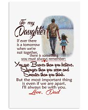 TO MY DAUGHTER LOVE DAD 11x17 Poster front