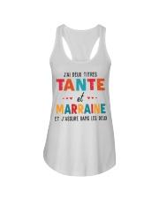 J'Ai Deux Titres Tante Et Marraine Et J'Assure dan Ladies Flowy Tank thumbnail