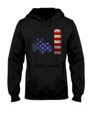US FLAG Shirt Hooded Sweatshirt thumbnail