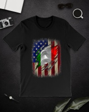American Flag Italian Blood Family Heritage   Classic T-Shirt lifestyle-mens-crewneck-front-16