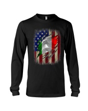 American Flag Italian Blood Family Heritage   Long Sleeve Tee thumbnail