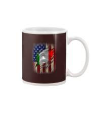 American Flag Italian Blood Family Heritage   Mug thumbnail