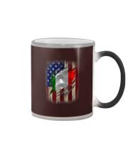 American Flag Italian Blood Family Heritage   Color Changing Mug thumbnail