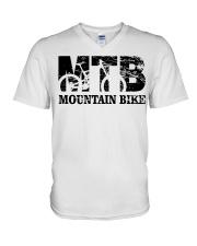 Mountian bike V-Neck T-Shirt thumbnail