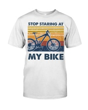 Stop Staring at my bike Classic T-Shirt tile