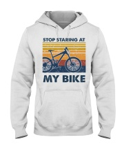 Stop Staring at my bike Hooded Sweatshirt tile
