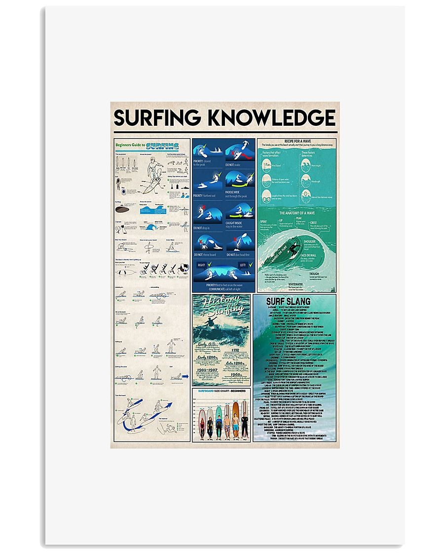 Surfing knowledge poster 24x36 Poster